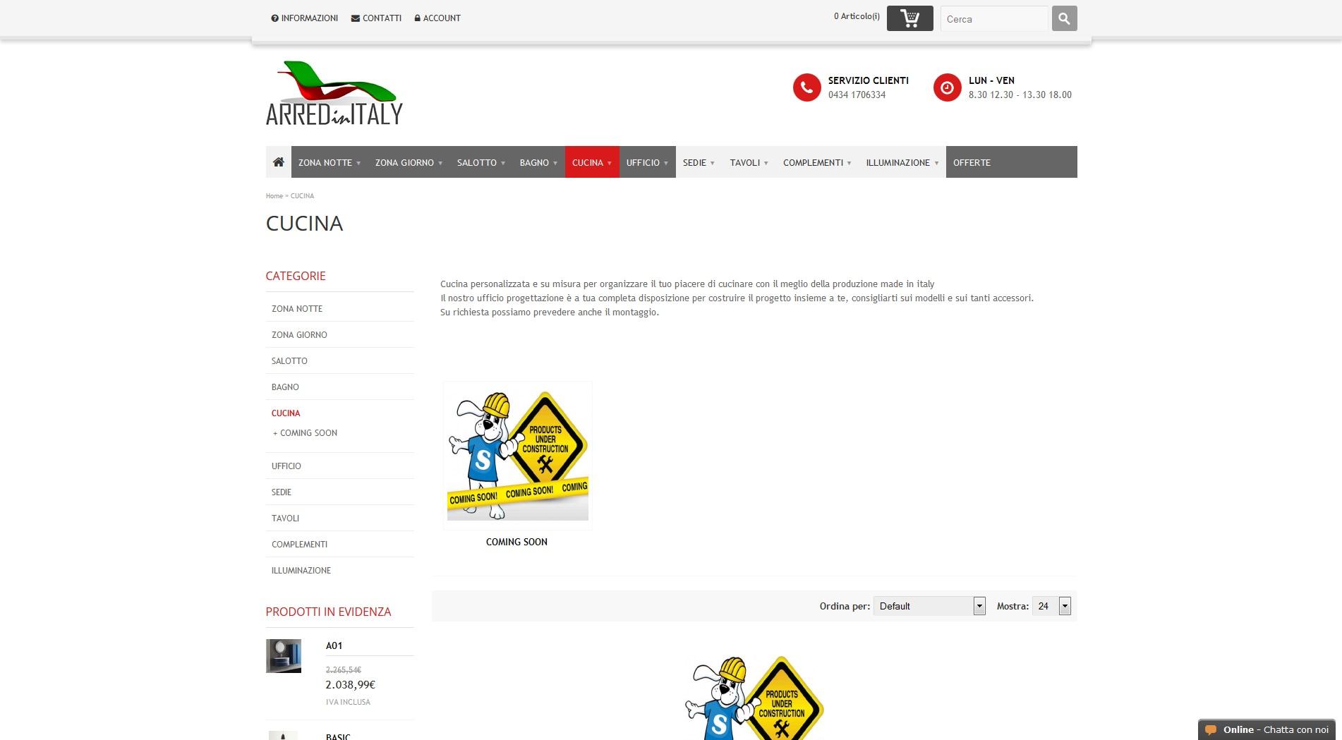 Vendita online cucine personalizzate e componibili