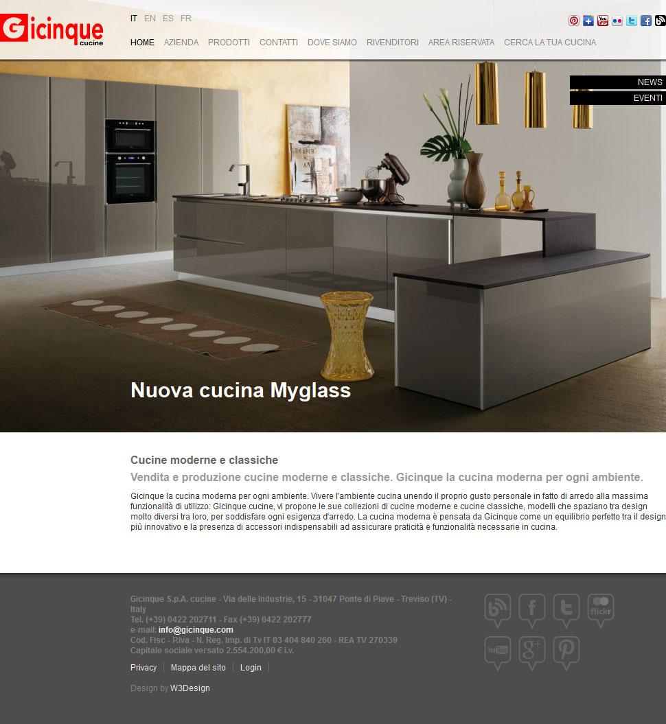 Gicinque Cucine - produzione e vendita cucine moderne cucine classiche